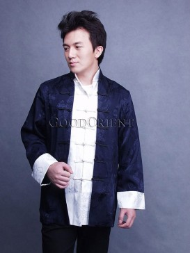 Dragon Motif Silk Kung-Fu Jacket