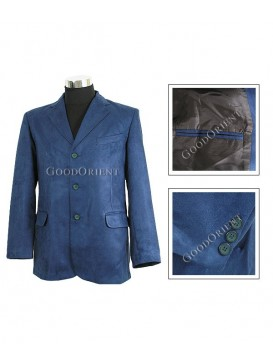 Blue Micro Suede Jacket