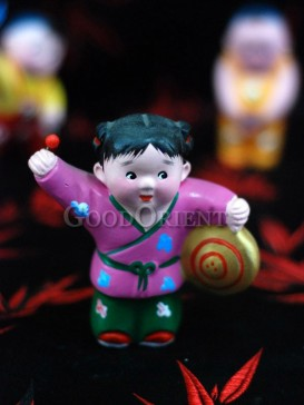 Happy Childhood Clay Figurine Series---Gong Show