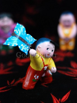 Happy Childhood Clay Figurine Series---Flying Kite