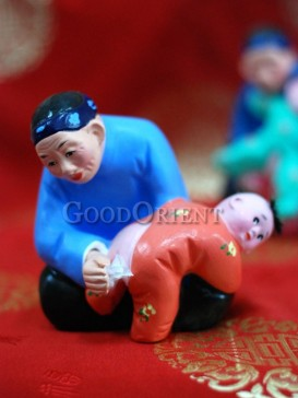 Happy Childhood Clay Figurine Series---I Love You Grandma