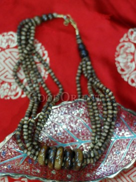 Brown Beef Bone Tibetan Necklace