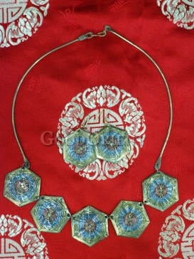 Tibetan Silver Necklace And Earing
