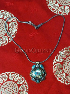 Blue Turquoise Tibetan Necklace