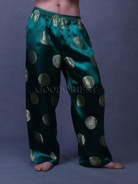 Green Blessing Brocade Pants