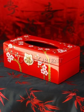 The Plum Blossom Lacquer Tissue Box