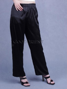 Black Silk Pajama Pants