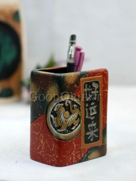 The Dictionary Pen Holder Pottery Series---Good Luck