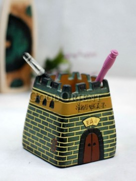 The Dictionary Pen Holder Pottery Series---The City