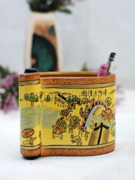 Painting Pen Holder Pottery Series---Riverside Scene At Qingming Festival