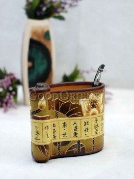 Painting Pen Holder Pottery Series---The Moonsight Of Lake