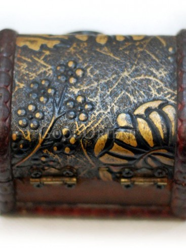 Leaves Patterns Wooden Cosmetic Cases
