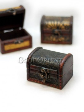 Black Flowers Wooden Cosmetic Cases