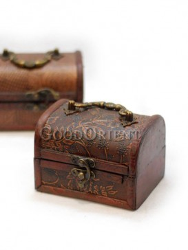 Flower Pattern Wooden Cosmetic Cases