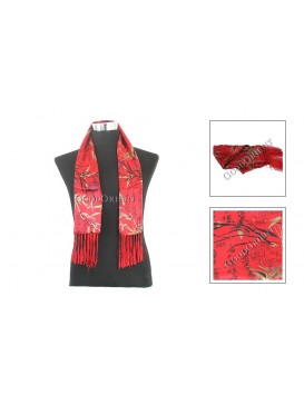 Chinese Double-Faced Silk Men Scarf---Red