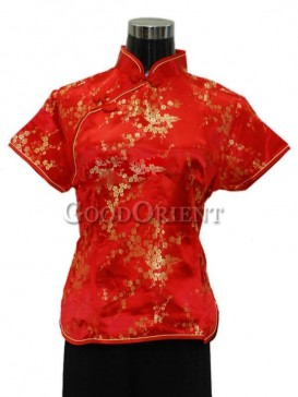 Plum Blossom Blouse---Chinese Red
