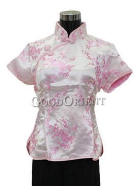 Plum Blossom Chinese Blouse---Pink