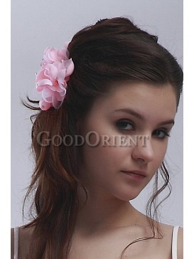 Best wedding accessories-Pink Hair flower