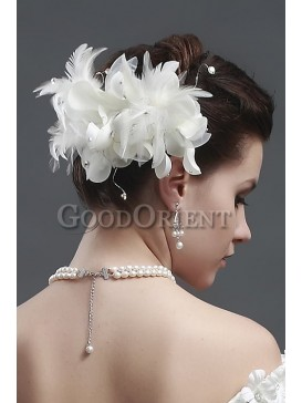 Best wedding accessories-Ivory hair flower