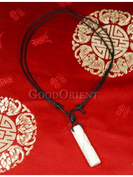 Pure white beef bone pillar necklace