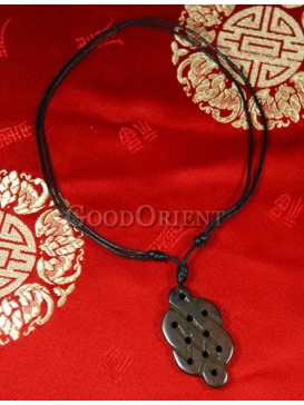 Lucky clouds pattern necklace