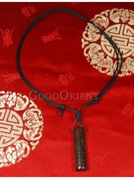Tibetan face style cylindrical necklace