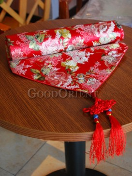 Red Colorful Floral Phoenix Table Runner