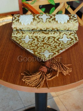 Golden Classical Design Table Runner
