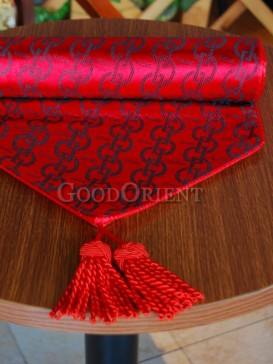Hot Red & Black Pattern Table Runner
