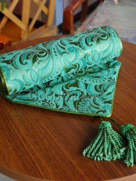 Emerald Aristocratic Floral Table Runner