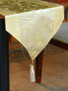 Pale-yellow Fu Lu Shou Table Runner