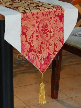 Scarlet Noble Peony Table Runner