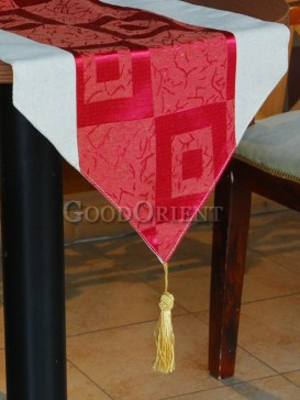 Amaranth Checkerwork Table Runner