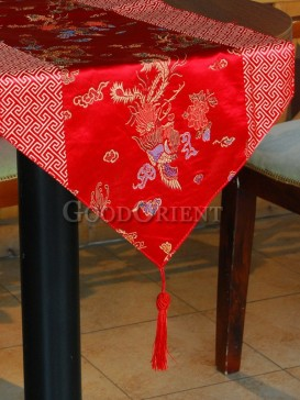 Hot Red Phenix Table Runner