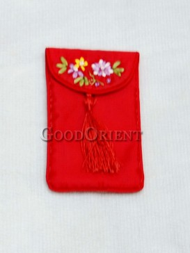 Graceful Vermeil Brocade Cellphone Bag