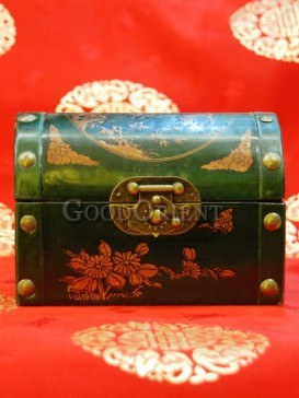 Chinese Panda Pattern Wooden Cosmetic Cases