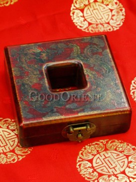 Middle Empty Shape Wooden Cosmetic Cases
