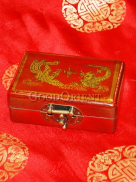 Dragon and Phoenix Play Bead Patterns Wooden Cosmetic Cases