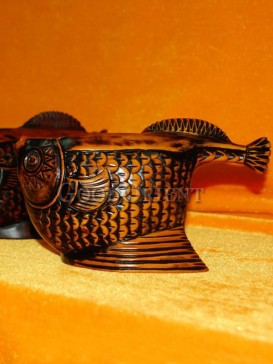 Antique golden Fish-knife Decorative Small Articles Holder/Container