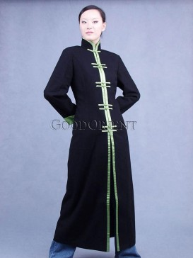 Green Piping Cashmere Coat