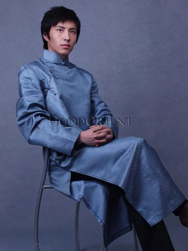 Russian Blue Long Chinese Clothing