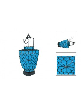 Tridional Small Candle Lantern---Blue