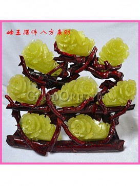 Gathering Wealth from All Directions Jadeite Chinese Cabbage Decoration