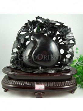 Black Jade Longevity Peach Decoration
