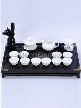 White Kung Fu Tea Pot with Six Cups