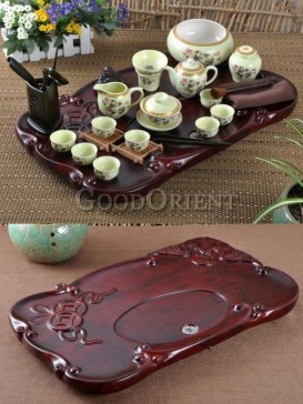 Cream and Gold color Kung Fu Tea Set with design