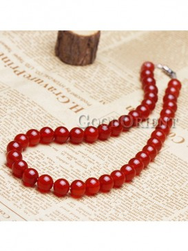 Vintage Cherry Like Red Agate Necklace
