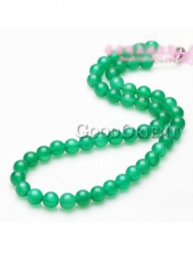 Green agate pendant Necklace for women