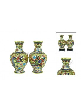 Dragon and Phoenix Twin Vase