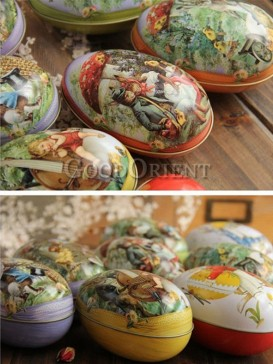 Iron Easter Egg Storage Box with set of six eggs